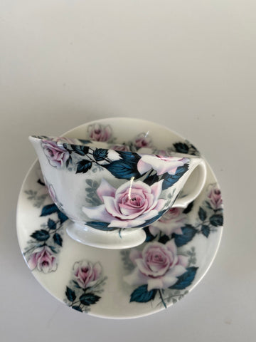 Vintage Style Hand Decorated Rose of Tralee Bone China Tea Cup & Saucer