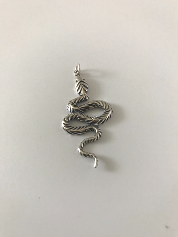 Silver Snake Pendent 50mm