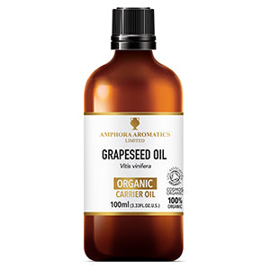 Organic Grapeseed Oil 100ml by Amphora Aromatics
