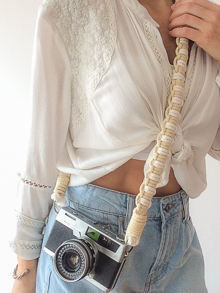 Bloom Macramé Camera Strap