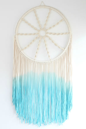 Dyed Aloha in Bahama Blue Dreamcatcher