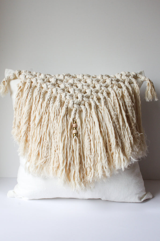 Bossa Macramé Pillowcase
