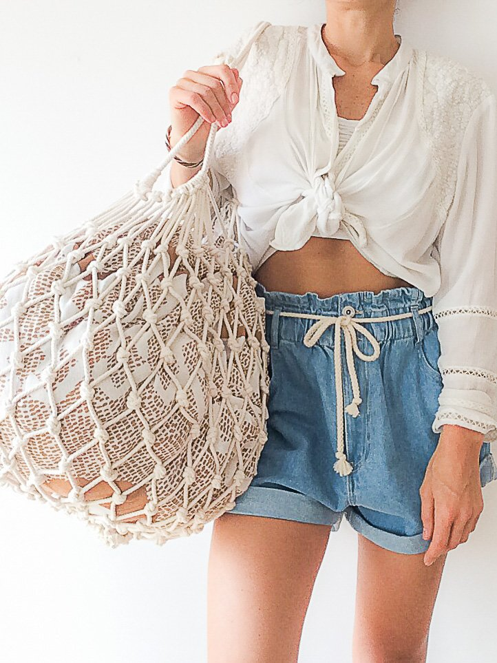XL Mermaid Macramé Beach/Shopper Bag