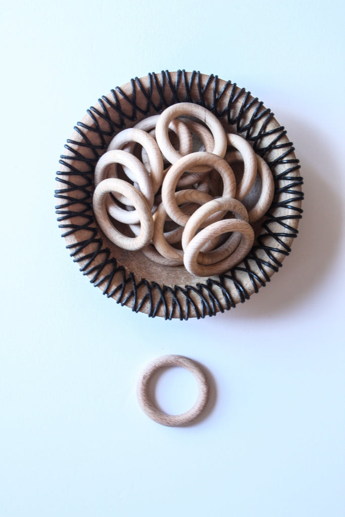 Pack of 3 Wooden Rings