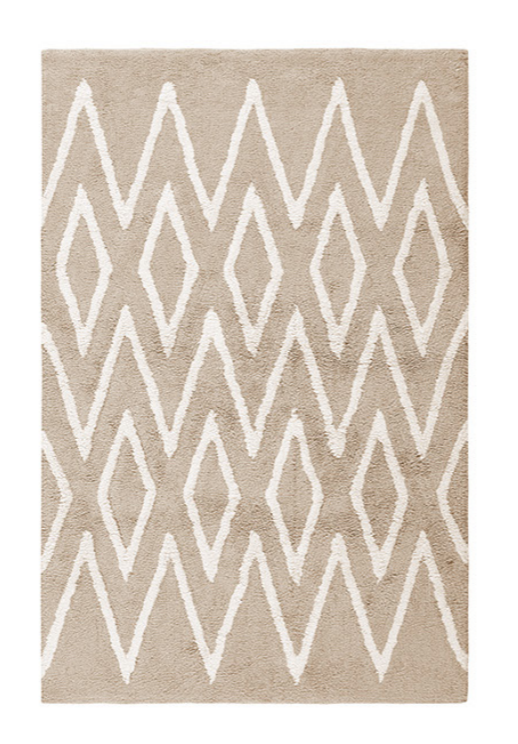 Bathmag ZigZag Beige Carpet