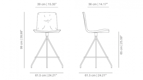 Klip Counter Stool