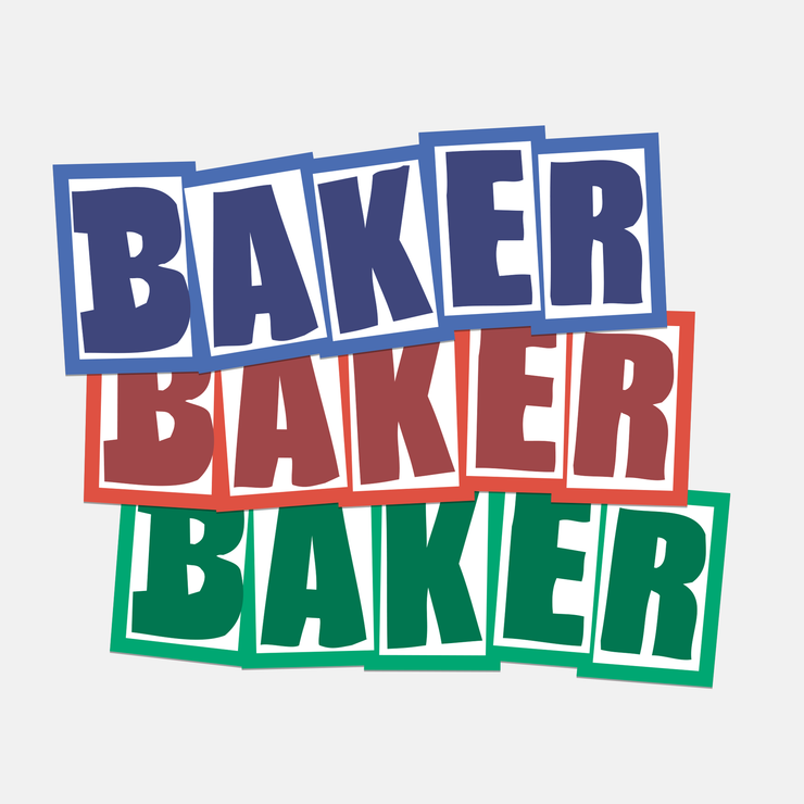 "Baker Stickers ""Brand Logo SU20"" 12-pack"