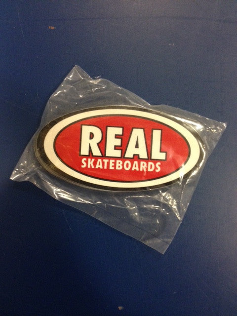 "Real Sticker  ""Oval classic red"" Medium  25-pack"