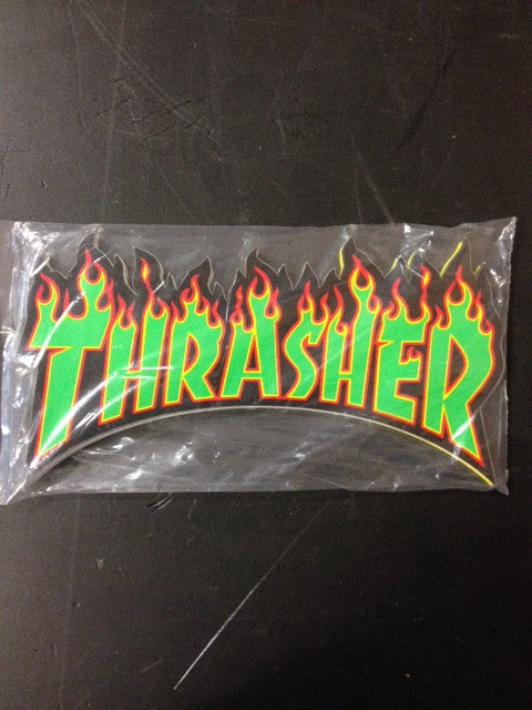 "Thrasher Sticker  ""Flame"" Large  25-pack"