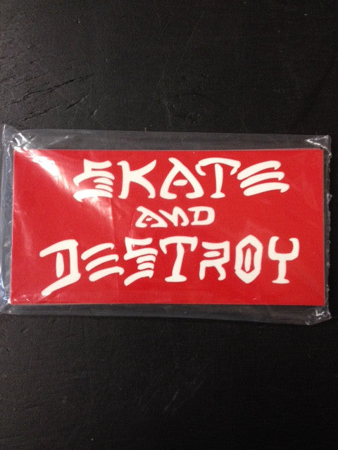 "Thrasher Sticker  ""Skate & Destroy"" Large  25-pack"