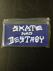 "Thrasher Sticker  ""Skate & Destroy"" Medium  25-pack"