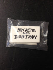 "Thrasher Sticker  ""Skate & Destroy"" small  25-pack"