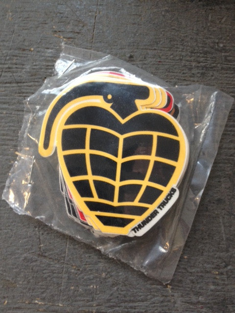 "Thunder Sticker  ""grenade dicut"" Small  25-pack"