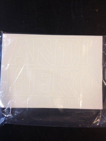 "AH Sticker  ""Black hero outline"" Medium  25-pack"