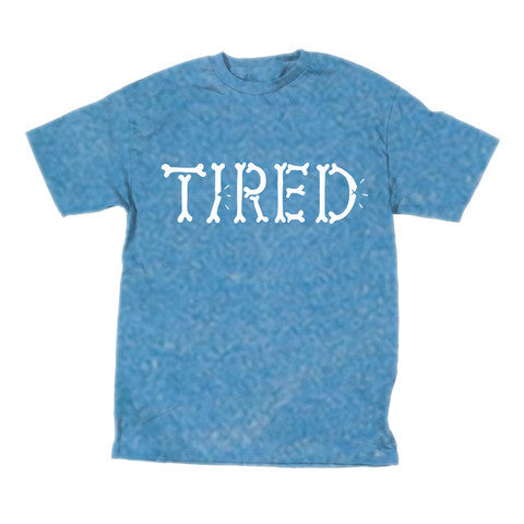"Tired t-shirt ""Bones"" blue"