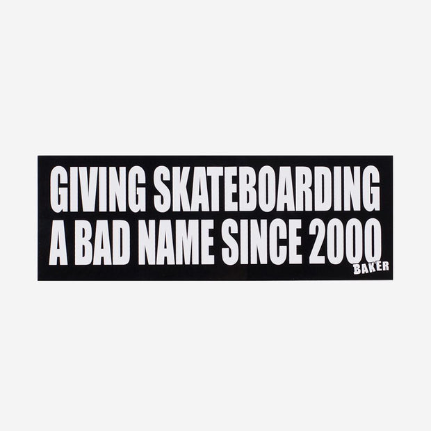 "Baker Stickers ""Bad Name"" 10-pack"