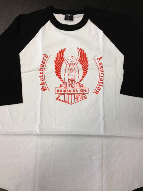 "Fourstar 3/4 sleeve raglan  ""association baseball"""