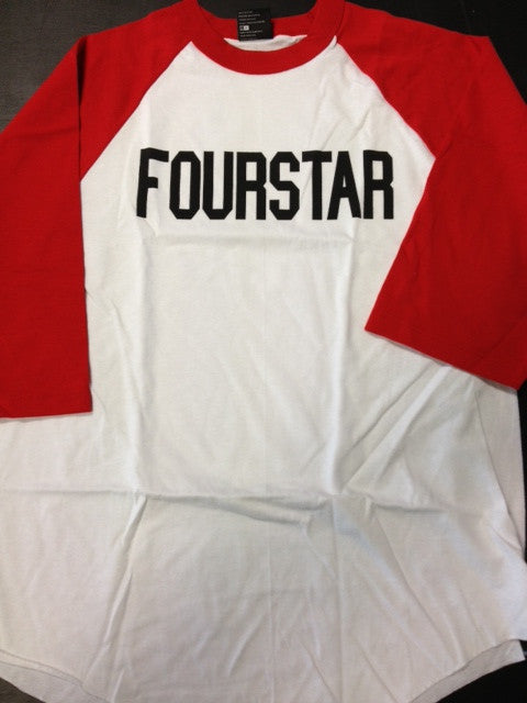 "Fourstar 3/4 sleeve raglan  ""league baseball"""