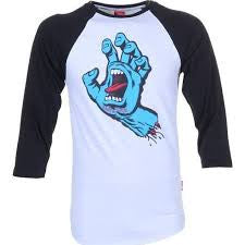 Santa Cruz Screaming hand 3/4 raglan