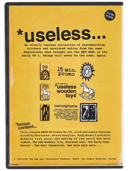 "New Deal dvd ""useless..."" 30th anniversary"