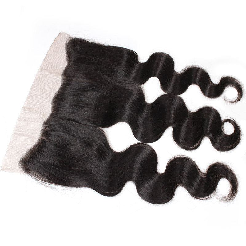 Lolly Unprocessed Human Hair 13x4 Frontal Peruvian Virgin Body Wave with Lace Frontal Closure