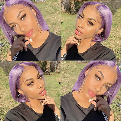 Brazilian Virgin Burgundy Ombre T1B/PURPLE Straight Hair Bundles With Lace Closure : LOLLYHAIR