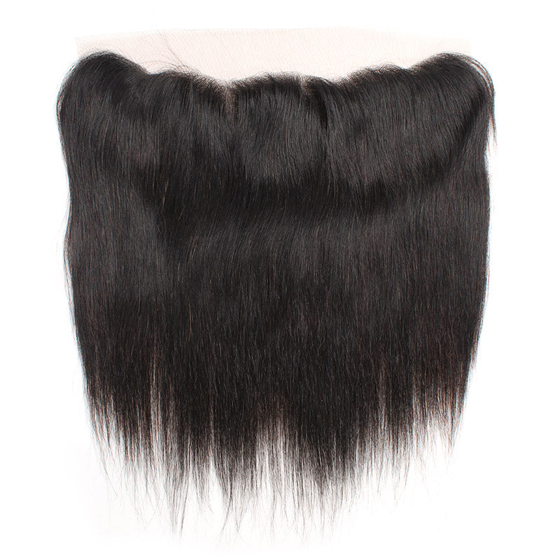 LollyHair 9A Straight Malaysia Virgin Human Hair Natural Malaysia Straight Hair Ear to Ear 13x4 Lace Frontal : LOLLYHAIR