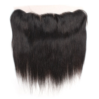 LollyHair 9A Peruvian Real Virgin Human Hair Straight Peruvian Remy Hair 1Pc Ear to Ear 13x4 Lace Frontal : LOLLYHAIR