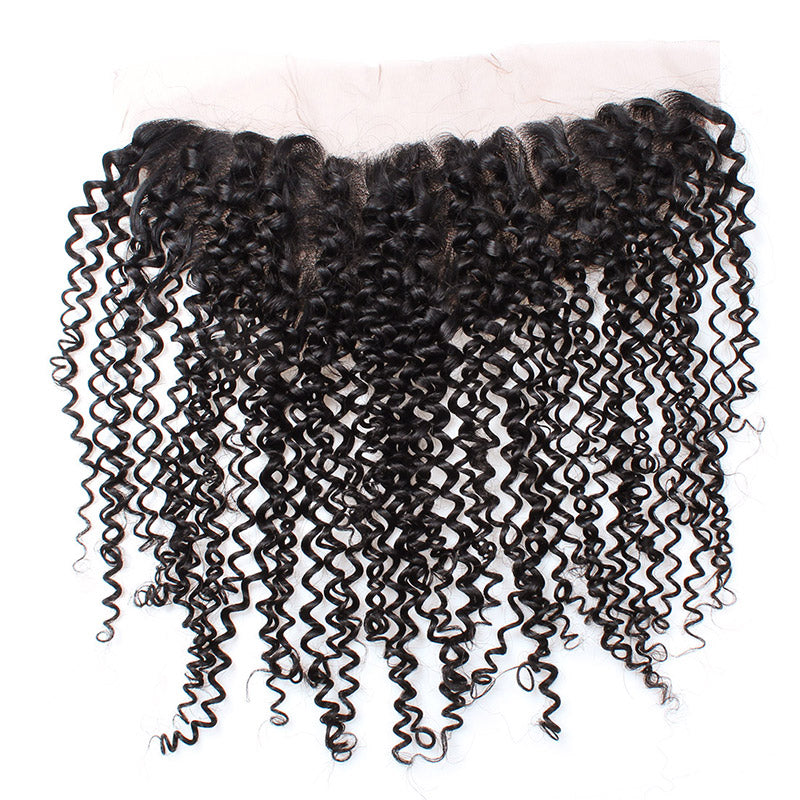 Lolly Hair Peruvian Virgin Human Kinky Curly Hair Ear to Ear Lace Frontal Closure Hair : LOLLYHAIR