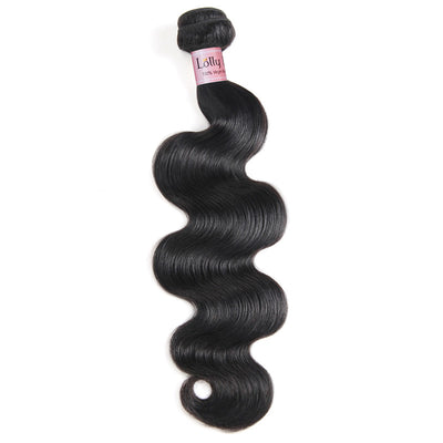 Lolly Hair Body Wave Virgin Human Hair Weave 1 Bundle Weave 100g 8-28 Inches : LOLLYHAIR