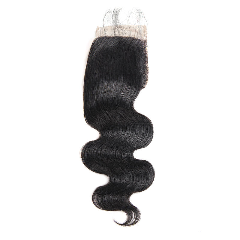 LollyHair Grade 9A Virgin Malaysian Human Hair Best Malaysian Body Wave Weave Lace Closure 1Pc : LOLLYHAIR