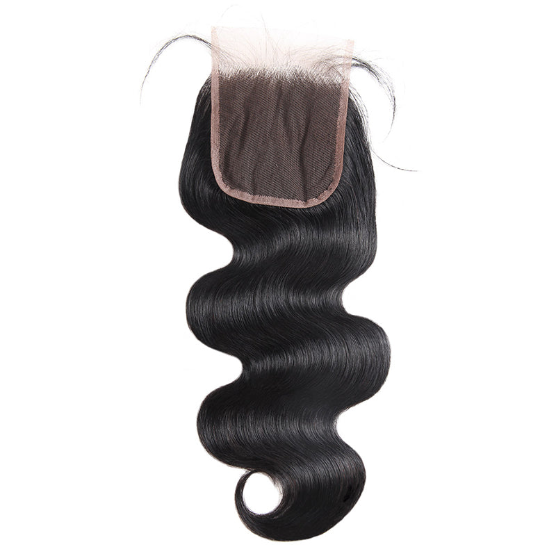 LollyHair 9A Good Peruvian Remy Natural Hair Peruvian Deep Body Wave Weave 4x4 Lace Closure Baby Hair : LOLLYHAIR