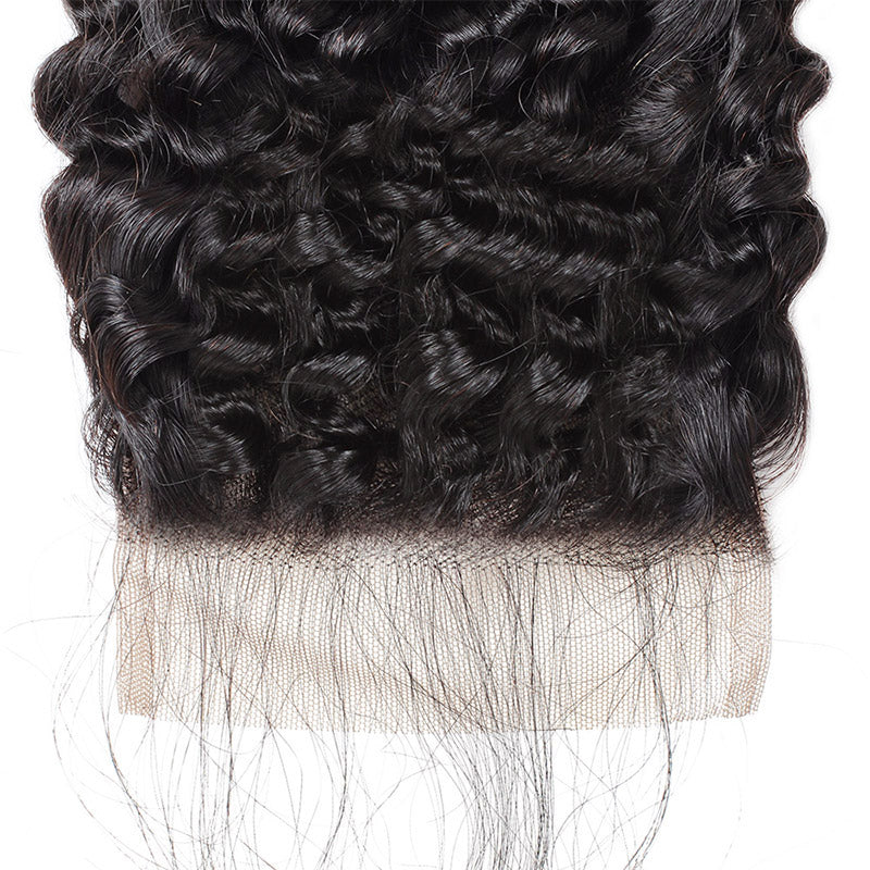 Lolly Hair Malaysian Kinky Curly Human Hair Extensions 4 Bundles with Lace Closure : LOLLYHAIR