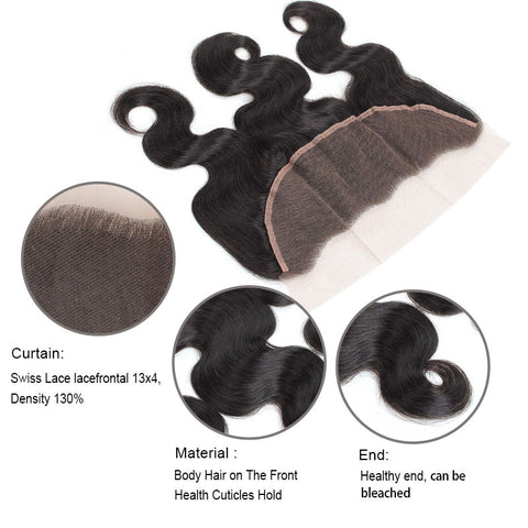9A Malaysian Body Wave Hair 2 Bundles With 13x4 Lace Frontal Closure Lolly : LOLLYHAIR