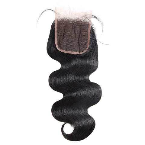 LollyHair 9A Best Brazilian Virgin Remy Hair Natural Brazilian Body Wave Weave with Lace Closure 4x4 : LOLLYHAIR