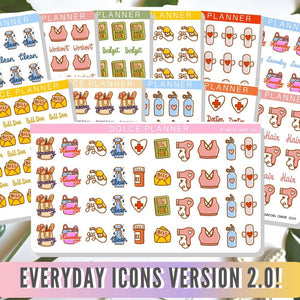 Everyday Icon V.2 Planner Deco Stickers
