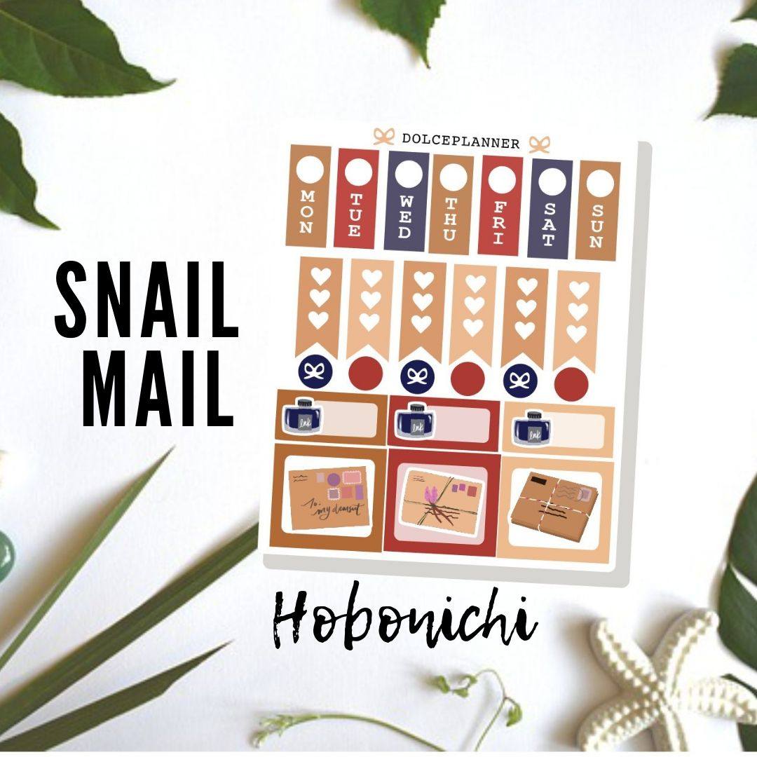 Snail Mail/ Pen Pal Hobonichi Weeks Mini Kit Planner Stickers