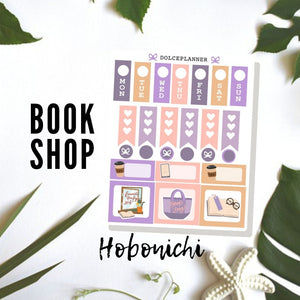 Favorite Book Shop Hobonichi Weeks Mini Kit Planner Stickers