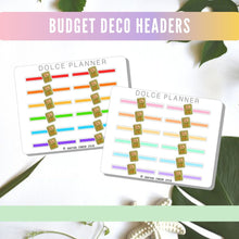Deco Headers Home and Chores for Passion Planners