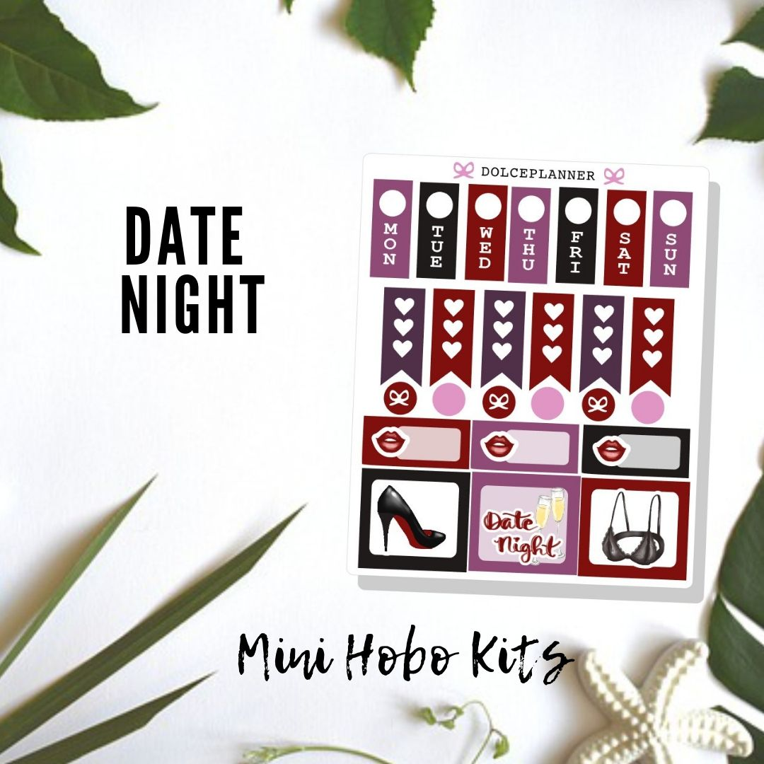 Date Night Hobonichi Weeks Mini Kit Planner Stickers