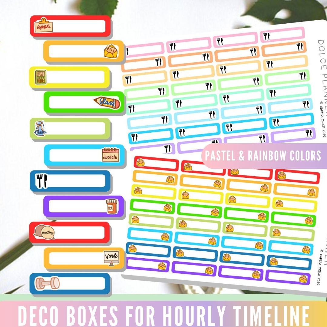 Deco Box for Hourly Timeline