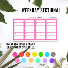 Sectional Stickers for Large Passion Planner - Weekly meal plan, lesson plan, work/school/workout schedule, fitness tracking