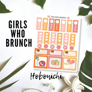 Girls Who Brunch Hobonichi Weeks Mini Kit Planner Stickers