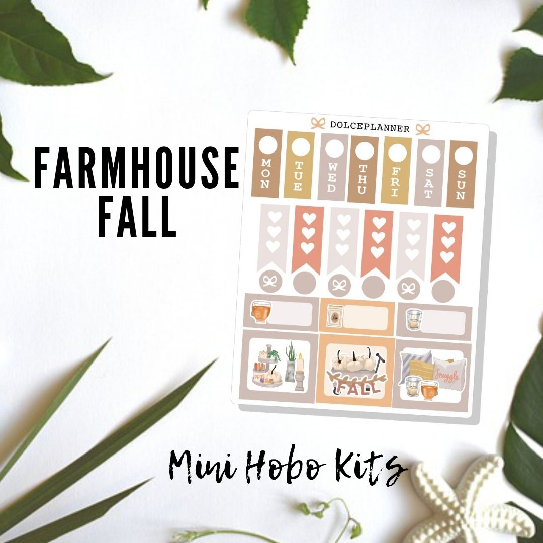 Farmhouse Fall Hobonichi Weeks Mini Kit Planner Stickers
