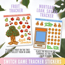 Switch Game Crossing Tracker Stickers