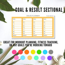 Sectional Stickers for Small Passion Planner - Weekly meal plan, lesson plan, work/school/workout schedule, fitness tracking