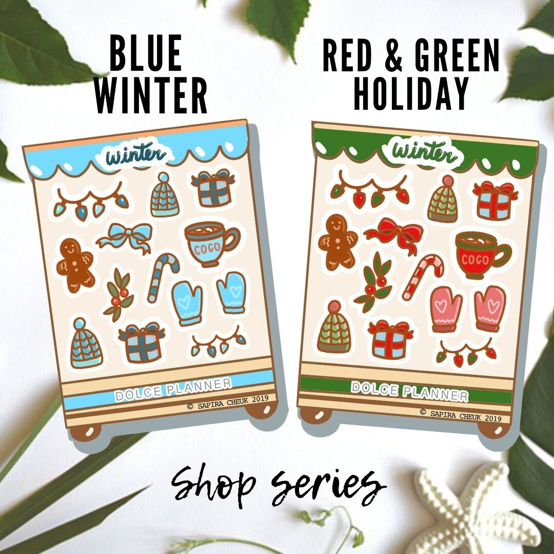 Winter Shop Planner Sticker