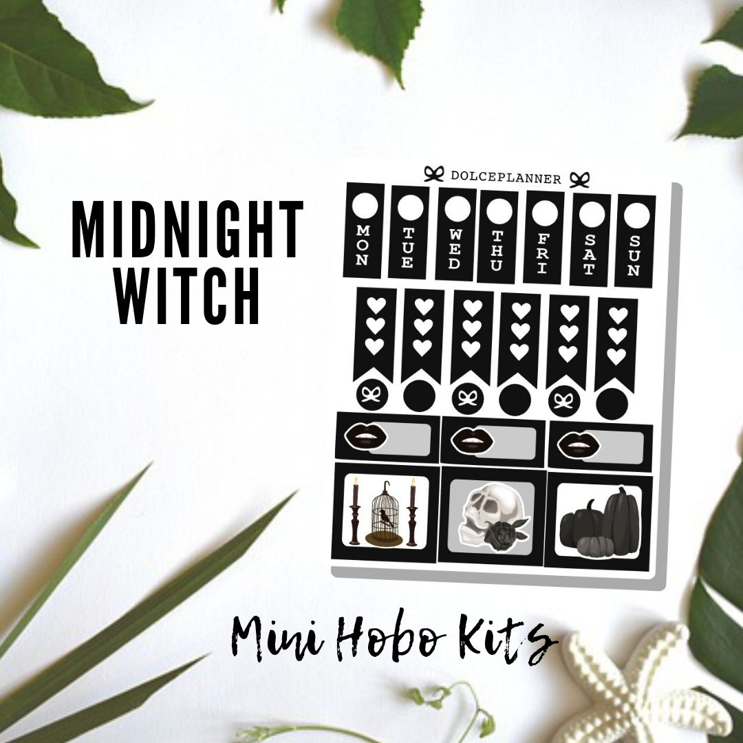 MidNight Witch Hobonichi Weeks Mini Kit Planner Stickers