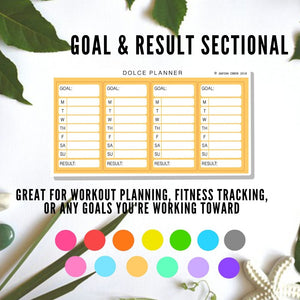 Sectional Stickers for Medium Passion Planner - Weekly meal plan, lesson plan, work/school/workout schedule, fitness tracking