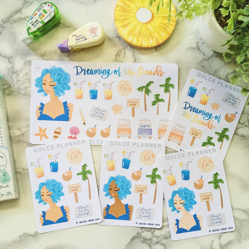 Dreaming of the Beach Planner Sticker